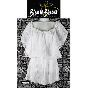 Bisou Bisou White Swimsuit Cover Up Size Large
